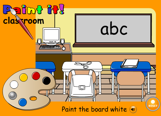 http://learnenglishkids.britishcouncil.org/en/word-games/paint-it/classroom