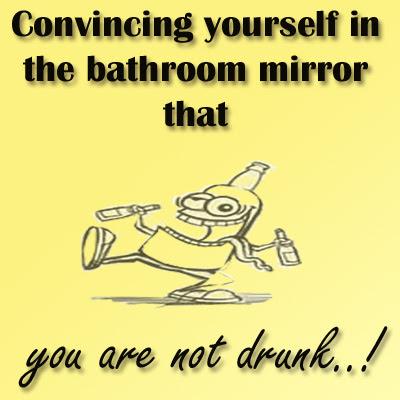 Funny Bathroom Mirror Quotes funny image quotes: convincing yourself