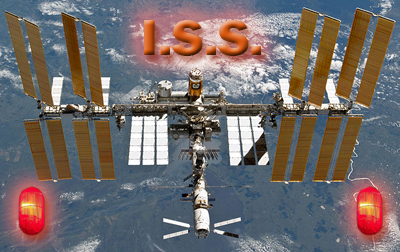 International Space Station - Collision Red Alert, 5 April 2011.