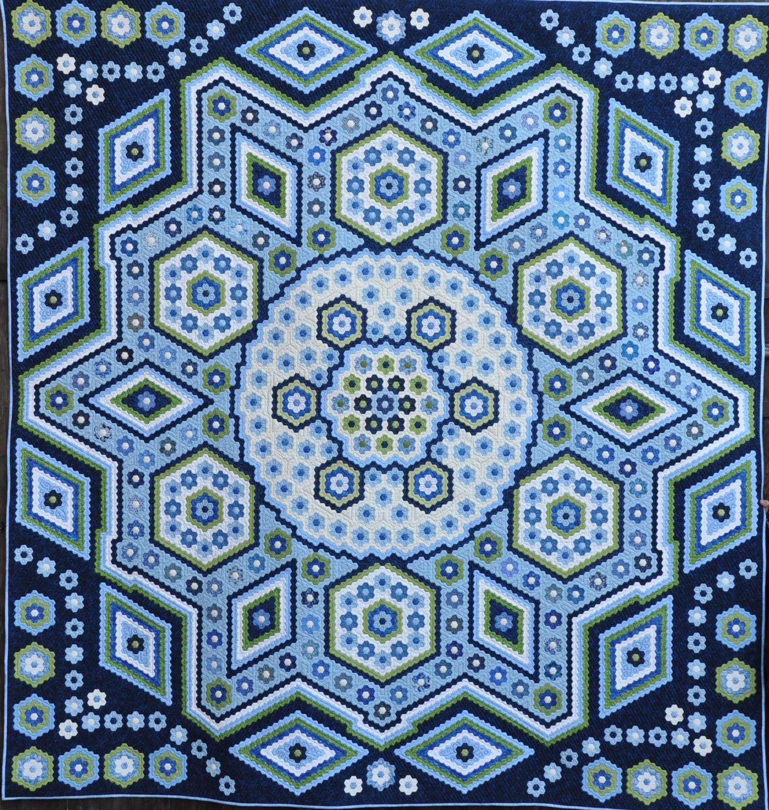 Quilting Templates Hexagon : The Vignette Hexagon Quilt