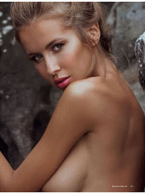 Renee Somerfield topless poses for Maxim Australia magazine July 2015