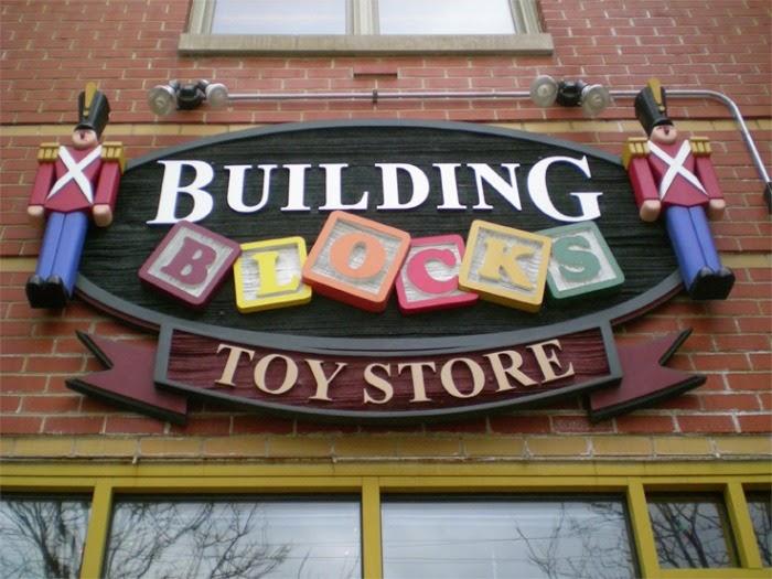 fachada de loja de brinquedo