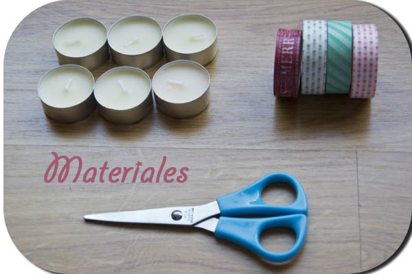 Whasitape velas Diy materiales
