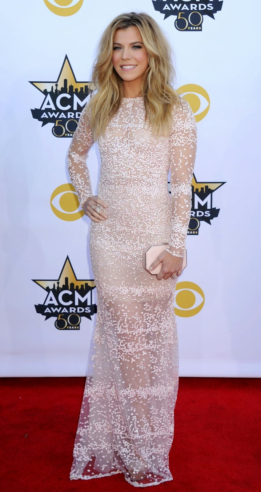 Kimberly Perry in a sheer beaded dress at the 2015 ACM Awards