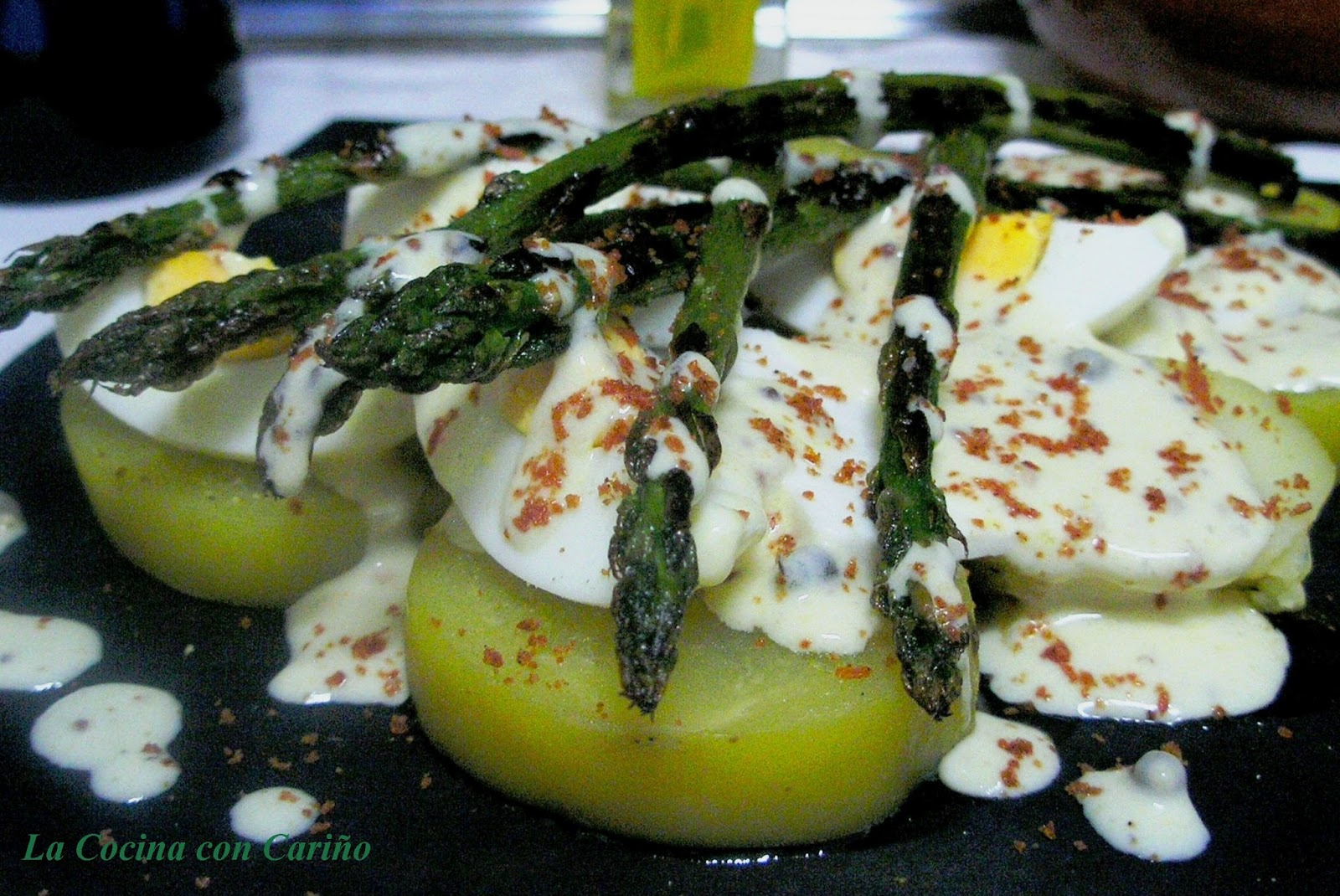 La Cocina con Cariño: ENSALADA DE ESPÁRRAGOS VERDES CON SALSA DE ...