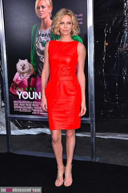 Charlize+Theron+ Young+Adult+premiere+red+hot+leather+dress%252C+Savvy+Spice