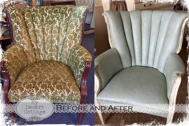 Painted Chair Makeover Before And After