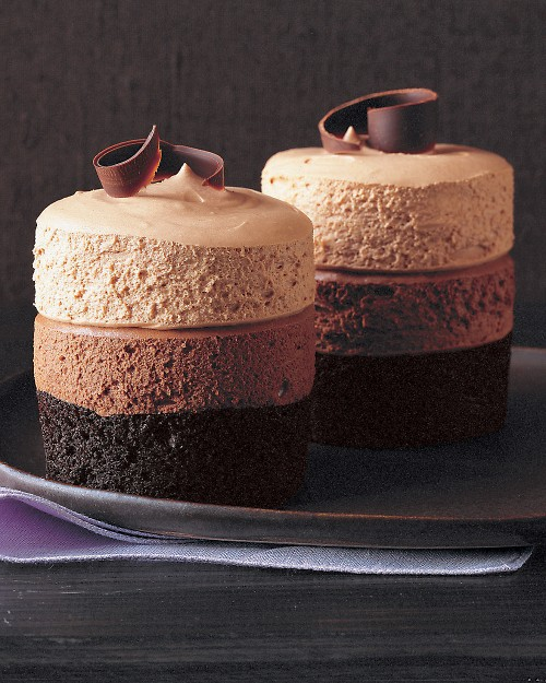 ... chocolate mousse cakes this recipe makes two kinds of mousse