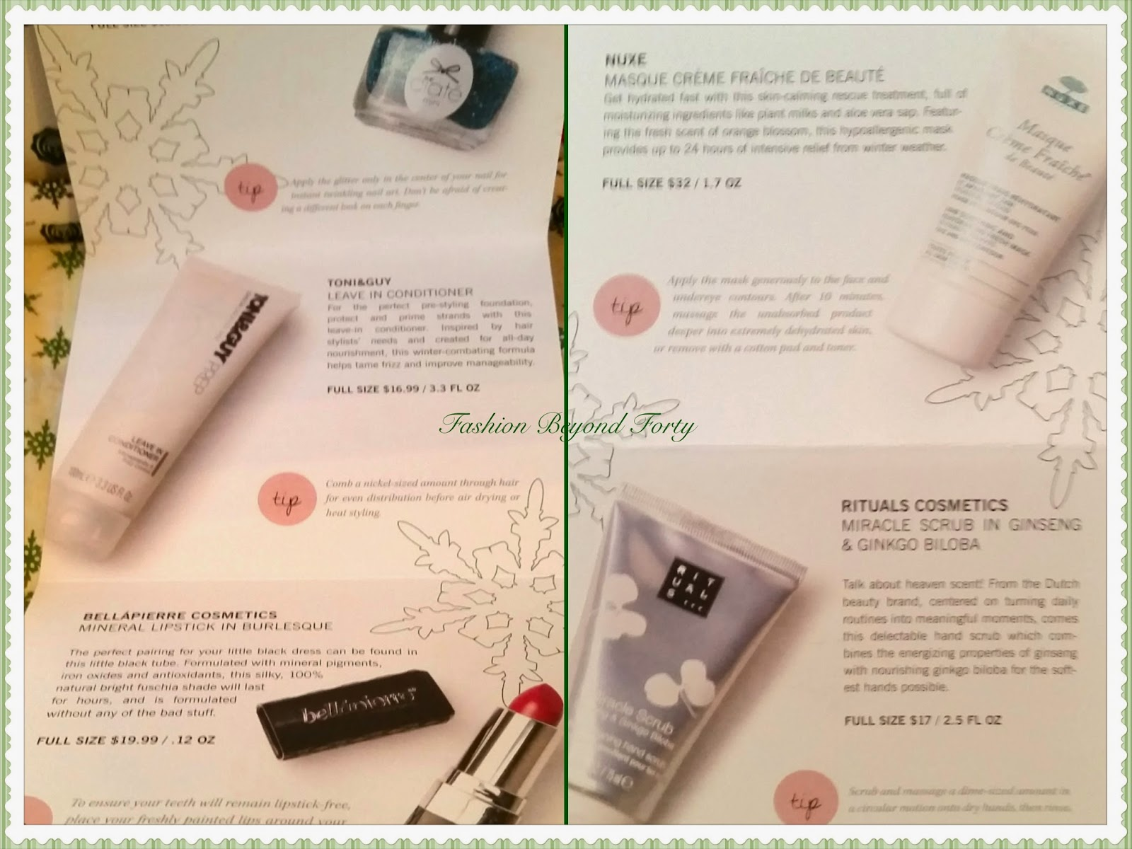 December 2014 Glossybox on Fashion Beyond Forty