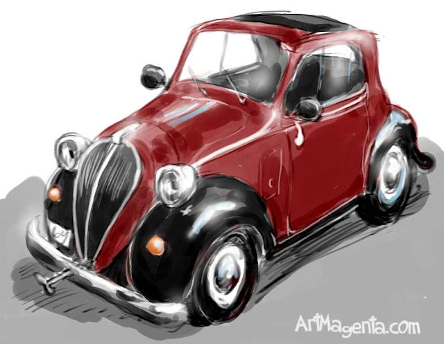 Fiat topolino painted by ArtMagenta