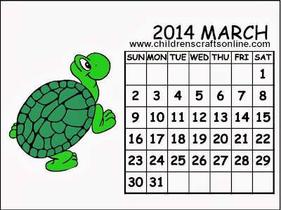 Cute March 2014 Calendar Printable Cute Children Calendar March