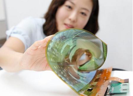 Hãng LG phát triển màn hình có thể cuộn tròn