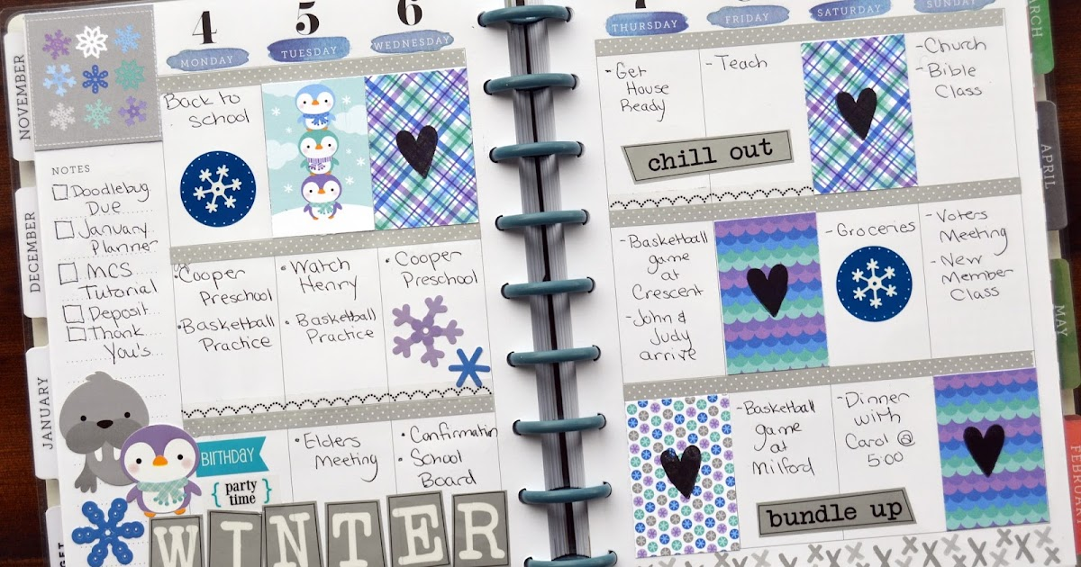 scrapping with christine  week 1  u0026 2 january planner spreads