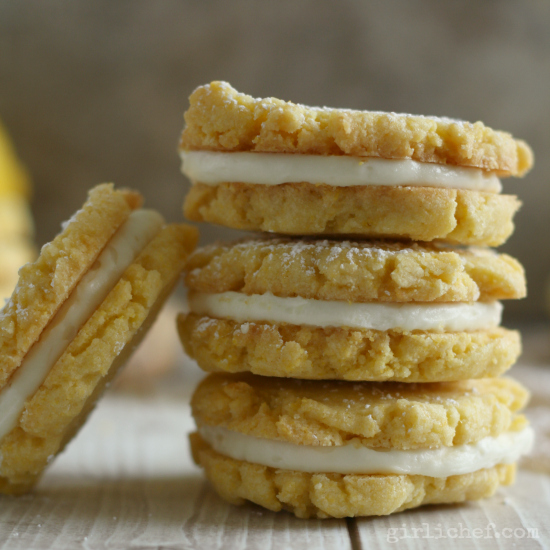 Lemon Cornmeal Sandwich Cookies - All Roads Lead to the ...
