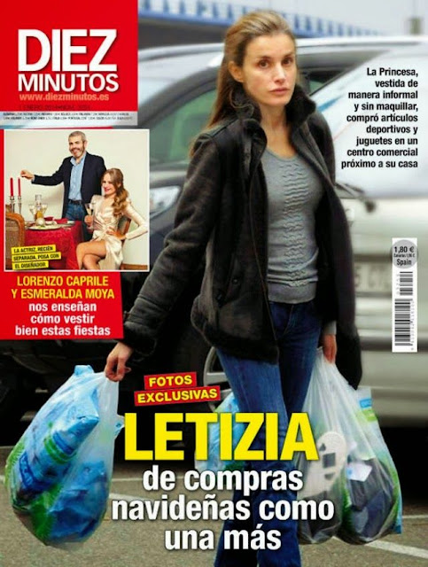 Princess Letizia shopping in Madrid