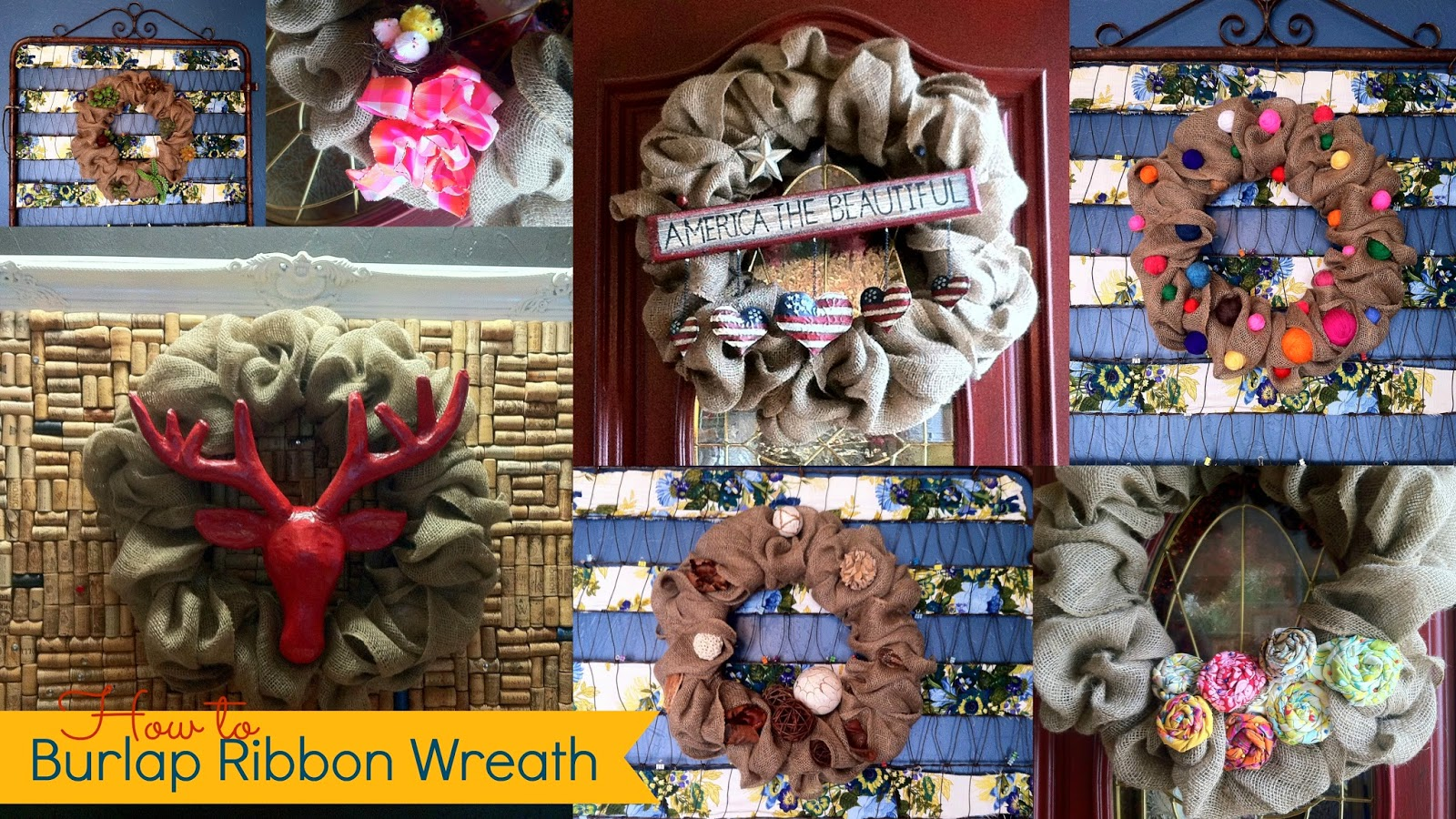 how to make a burlap ribbon wreath from mommy is coocoo
