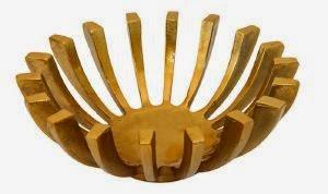 metal decorative bolw espiel  wood wooden