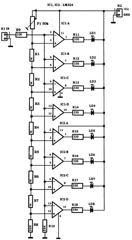 LED - индикатор уровня