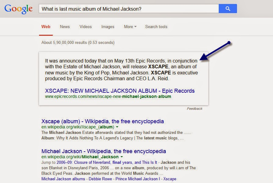 MICHAEL JACKSON MUSIC ALBUM - Web Content strategy