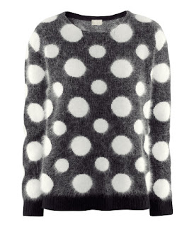 h&m dotted sweater