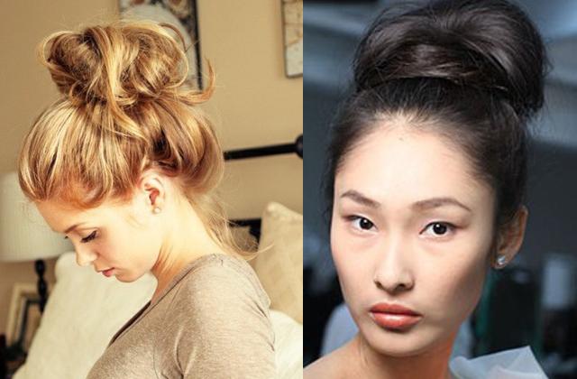 how to make thin hair look thicker in a bun