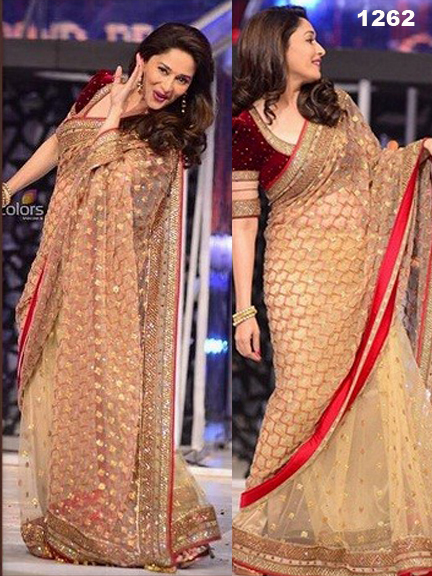 Bollywood Actress Gorgeous Saree, Bollywood Actress Krina Kapoor, Rani Mukharji,Diya Mirza Replica Saree in Kolkata, Madhuri Dixit Jhalak Dikhla Jaa Saree Collection