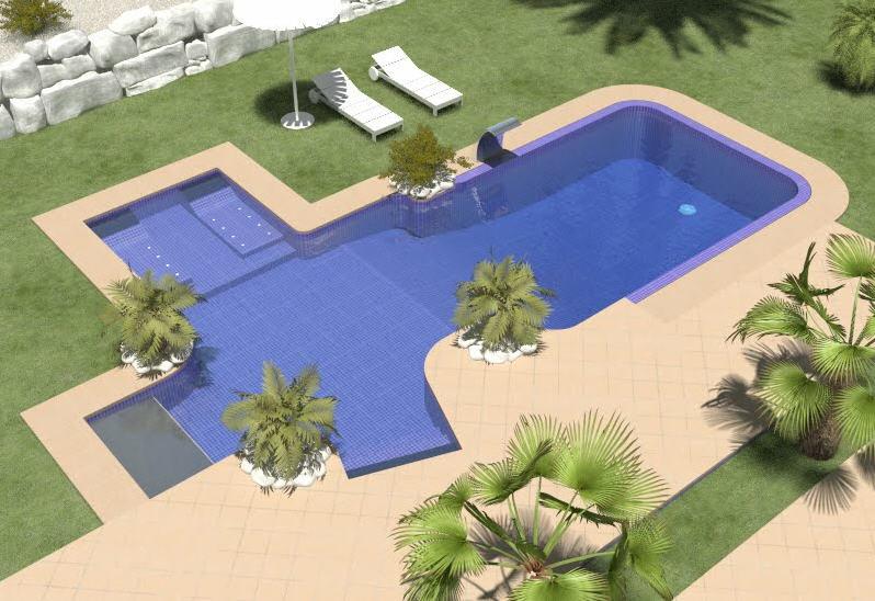 Dise o de casas campestres planos piscinas pergolas for Proyecto de piscina