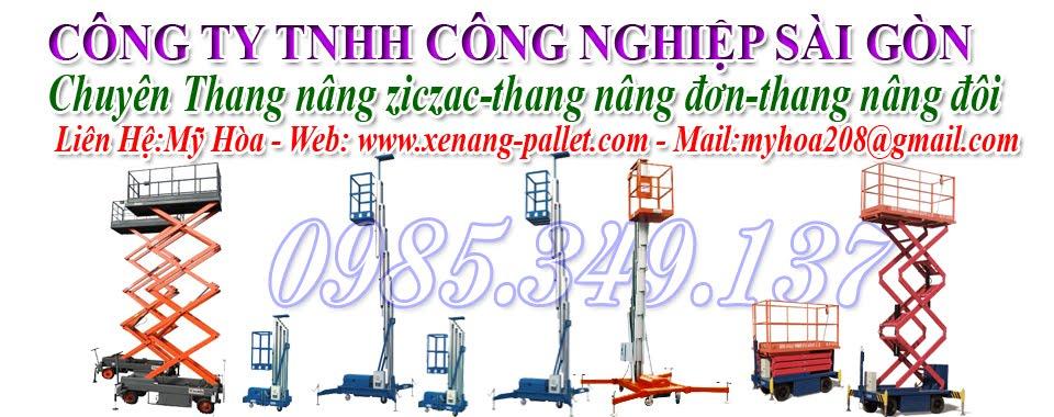 Phân phối giá rẻ: Thang nâng ziczac, thang nâng người, thang nâng điện, thang nâng đơn:0985349137