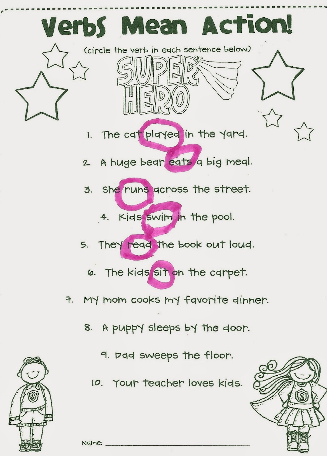 list of action verbs second grade images list of action verbs second grade