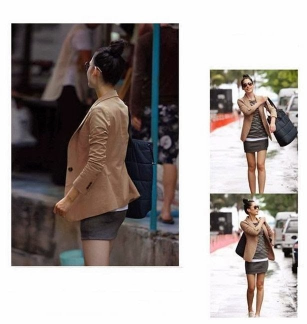 Women Lady Suit Blazer Sexy Slim Short Jacket Casual Long Sleeve Coat Outerwear