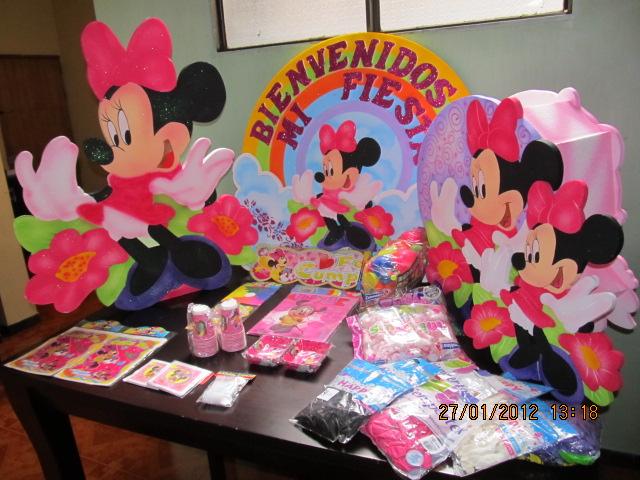 Decoracion minnie mouse fiestas infantiles y for Decoracion de accesorios