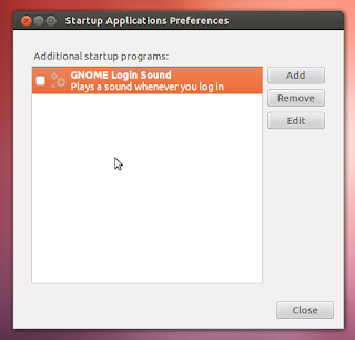 turn off log in sound ubuntu 12.04
