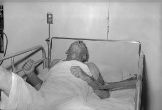 Foto paciente afectado por el virus letal de la Rabia