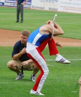 Super flexible man