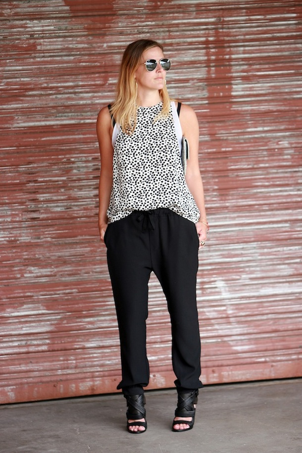 ALC Bradley Top Black Pants Derek Lam Beau Shoes