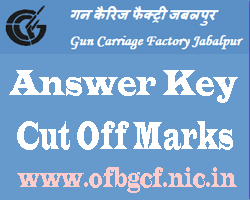 GCF Jabalpur Answer Key 2017