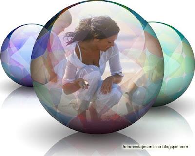 fotomontaje Bola de cristal