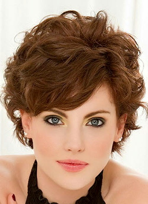 Short Hairstyles With Bangs Curly Hair