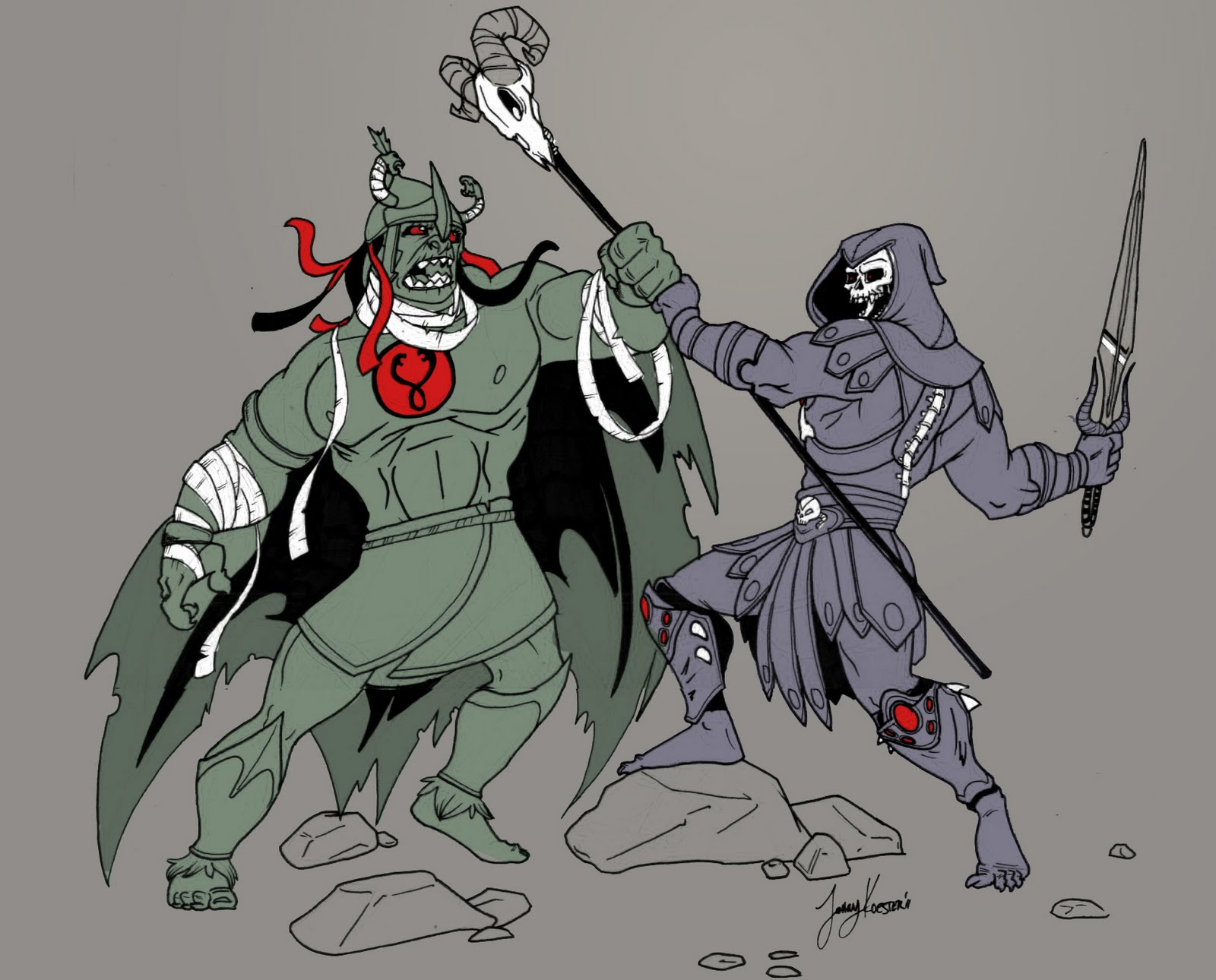 skeletor vs mumm ra - HD 1600×1290