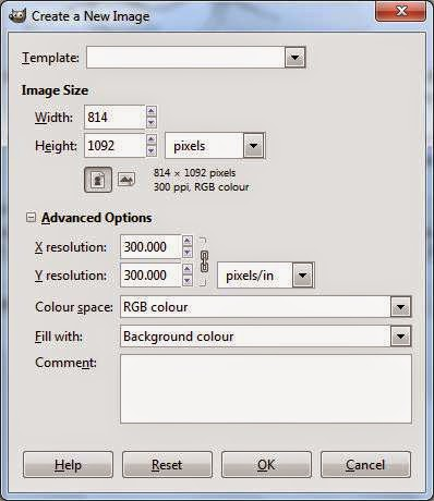 Start Again Open A New GIMP Window File And Specify Width 814 Px Height 1092 Fill With Background As Below