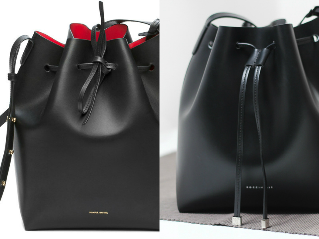 miss bagaholic the dupe list coccinelle vs mansur gavriel. Black Bedroom Furniture Sets. Home Design Ideas