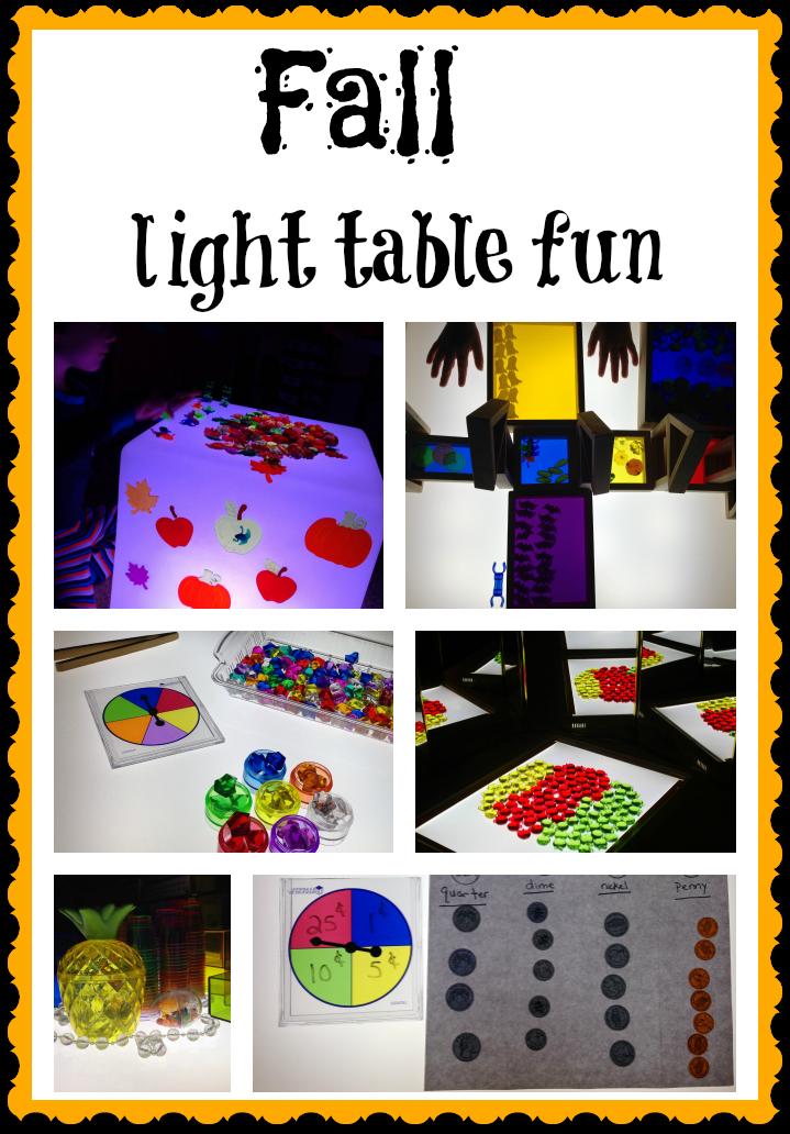 fall theme light table