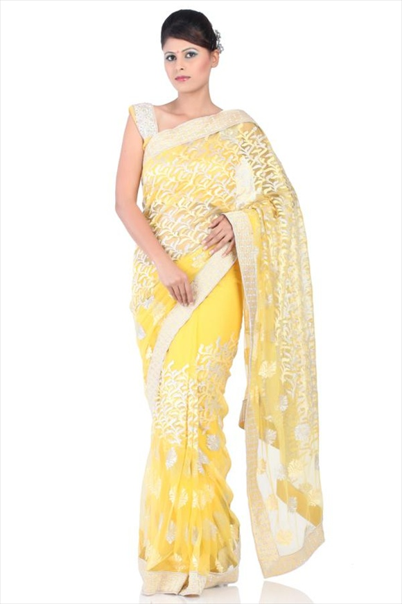 CHROME NET SAREE