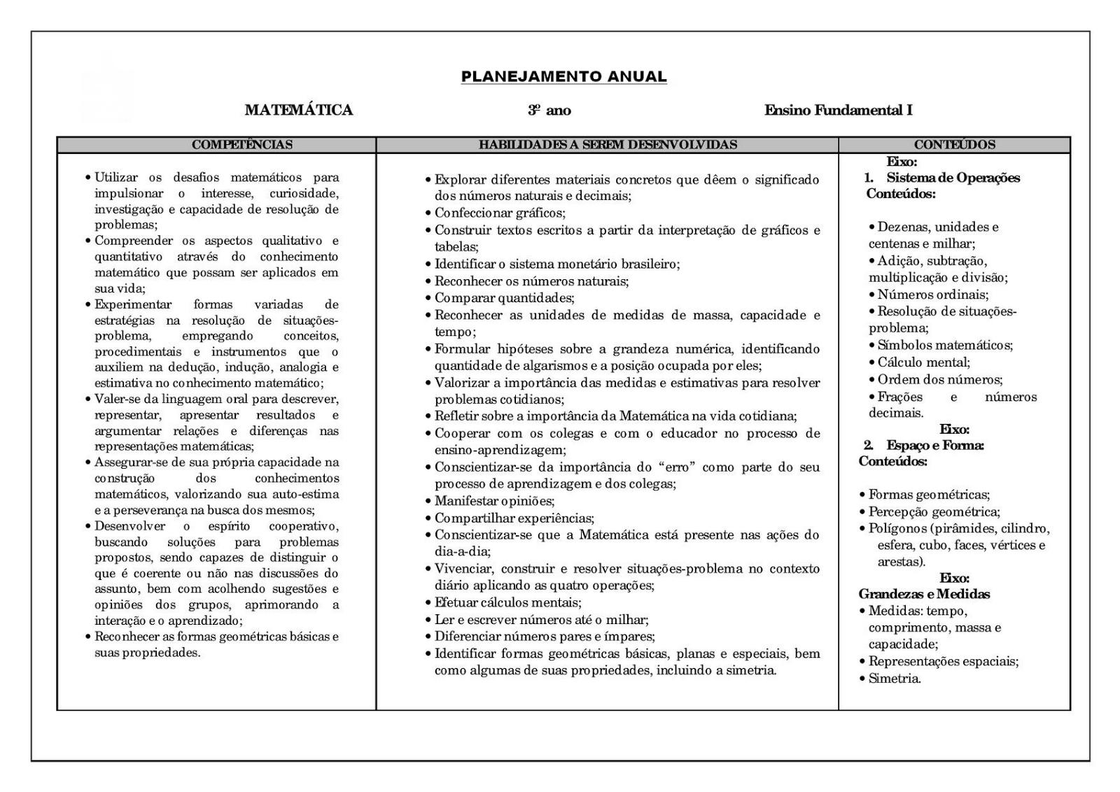 Amado PLANEJAMENTO ANUAL 3° ANO FUNDAMENTAL COMPLETO ATIVIDADES (IMAGENS  CM34