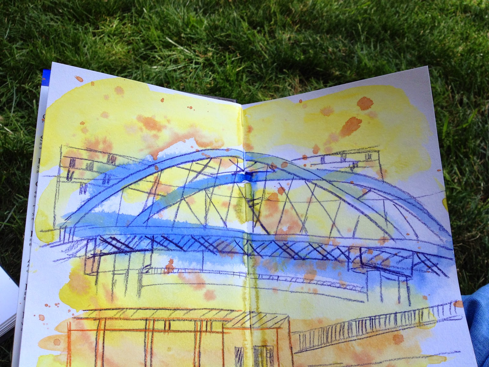 Reflections of a beginning urban sketcheror what i wish tram bridge in sheffield one of the pieces produced in a workshop run gumiabroncs Image collections