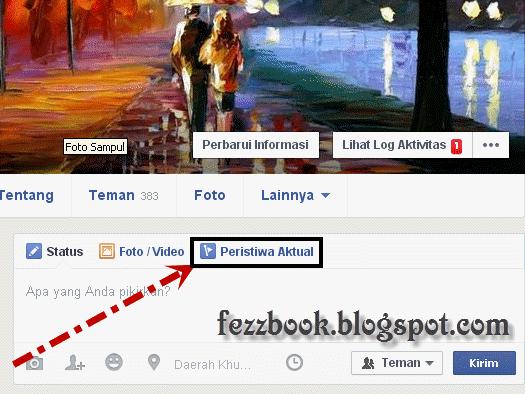 cara membuat status facebook peristiwa actual