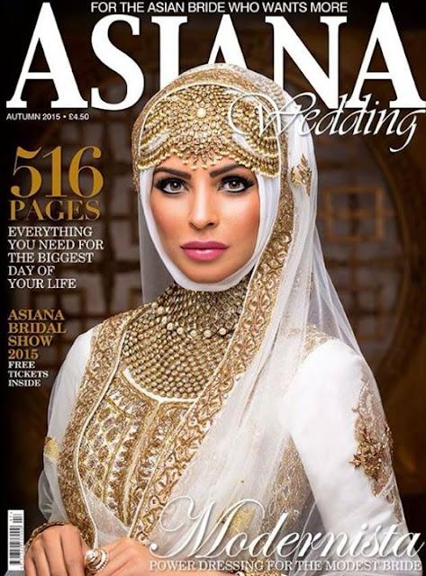 Fauzia Aman Featured on the Cover of Asiana Wedding Magazine