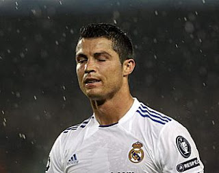 Cristiano upset during the match
