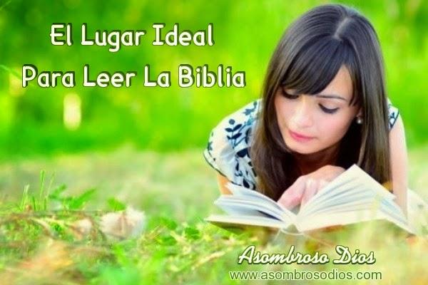 Lugares tranquilos para leer la biblia