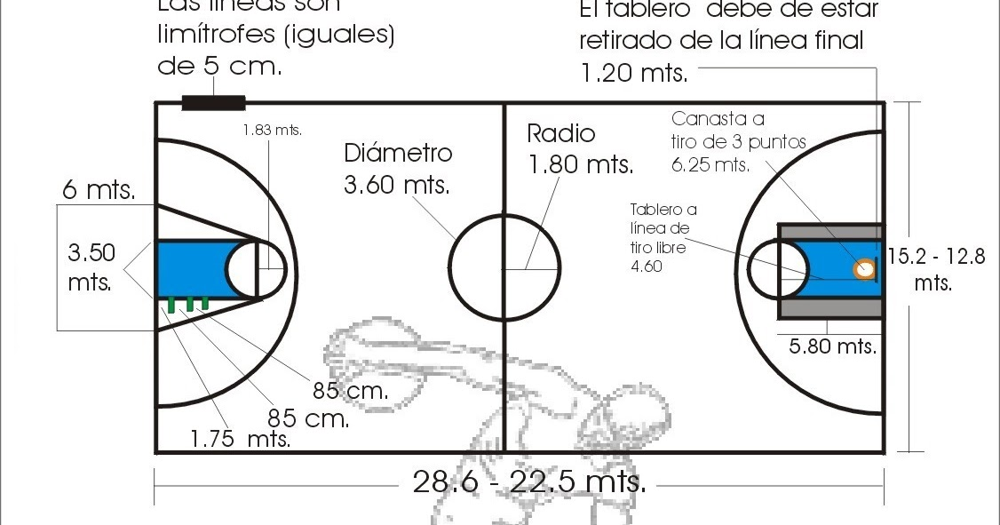 TSAAFD IES ROSALEDA 2010 / 2012: MEDIDAS CAMPO BALONCESTO